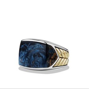 David Yurman   Blue w/Pietersite & 18K Gold Ring